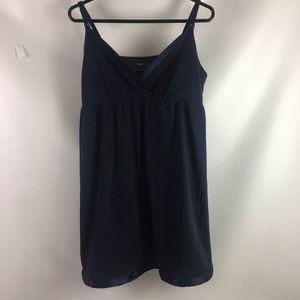 Motherhood Maternity Babydoll Dress Navy Blue